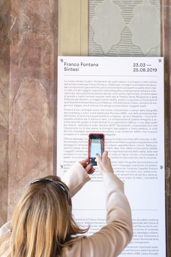 com'è la mostra di franco fontana a modena