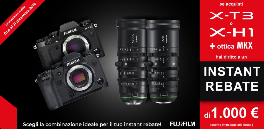 promozioni per Fujifilm GFX e MKX