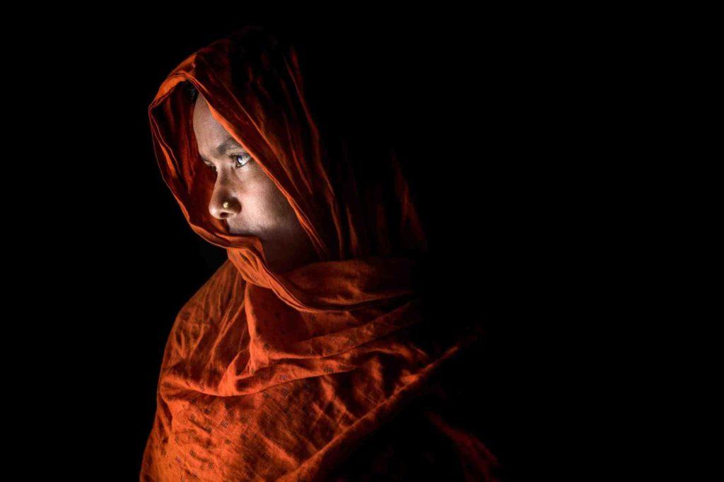 premio stein 2019 mostra cascina roma milano foto di Mushfiqul Alam ritratto di donna