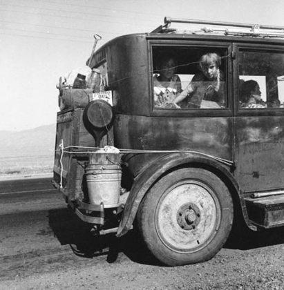 Dorothea Lange bambina in viaggio