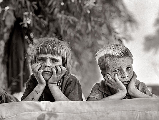 Dorothea Lange due bimbi