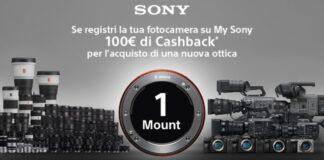 Sony promozioni cashback fotografia