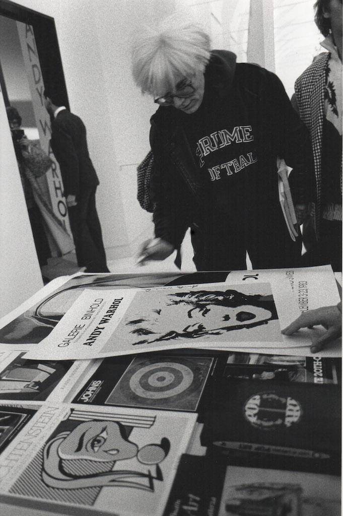 Andy Warhol inaugurazione mostra maria mulas