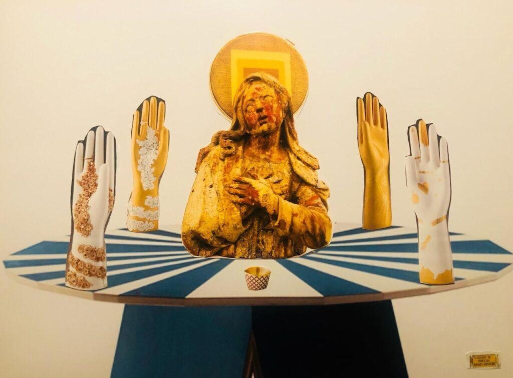 Francesco Vezzoli opera collage