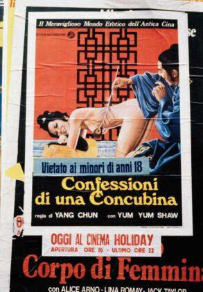Marialba Russo manifesti film luci rosse confessioni concubina