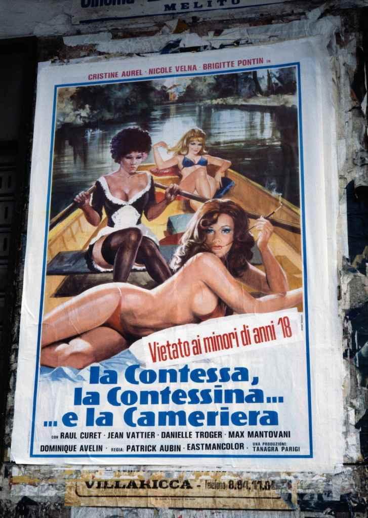 Marialba Russo manifesti film luci rosse contessa contessina cameriera