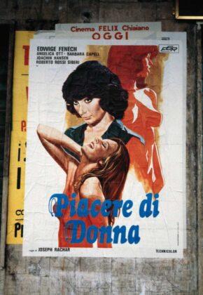 Marialba Russo manifesti film luci rosse piacere donna