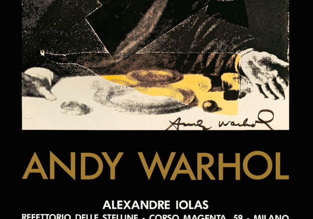 poster mostra Warhol Stelline 1987