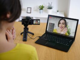 sony streaming pc fotocamera