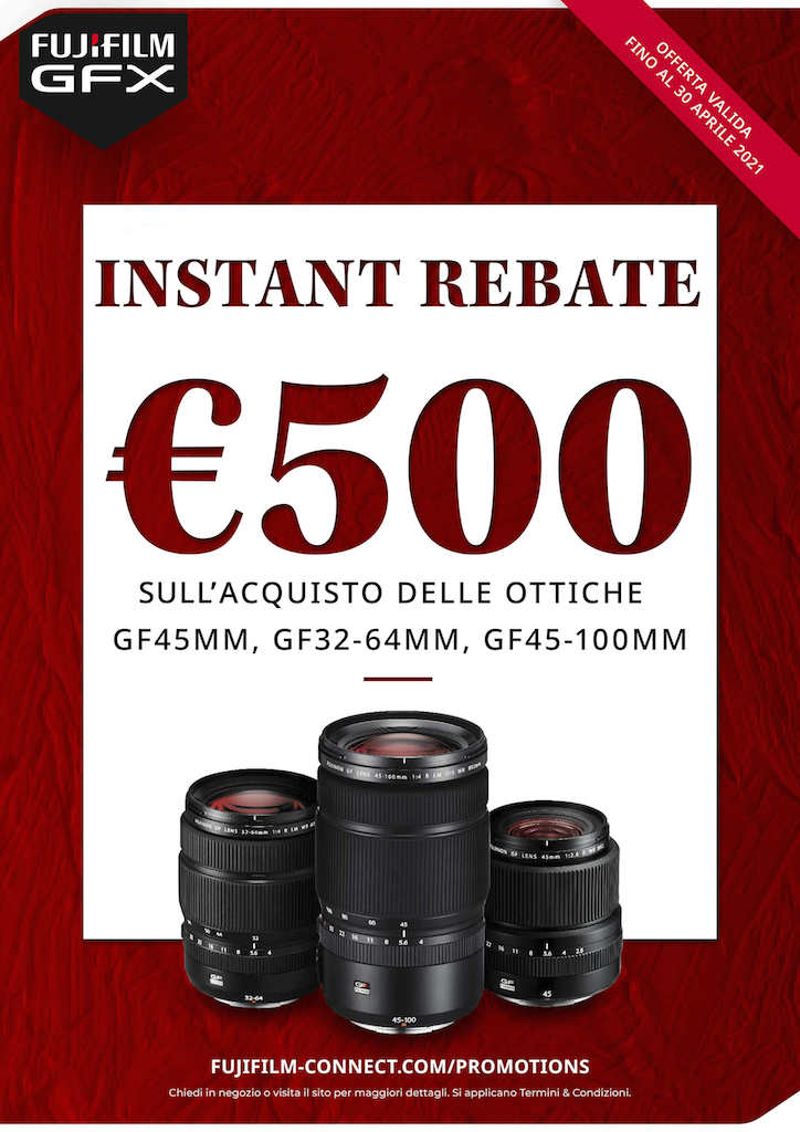 Fujifilm Instant Rebate ottiche GF