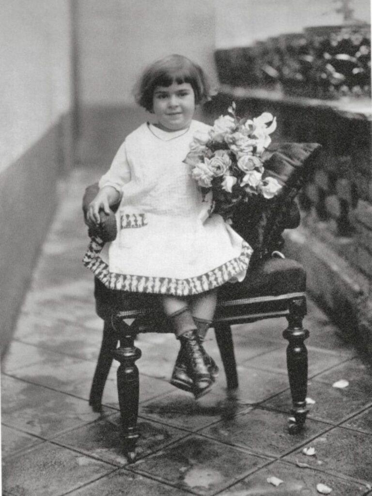 Frida Kahlo a quattro anni