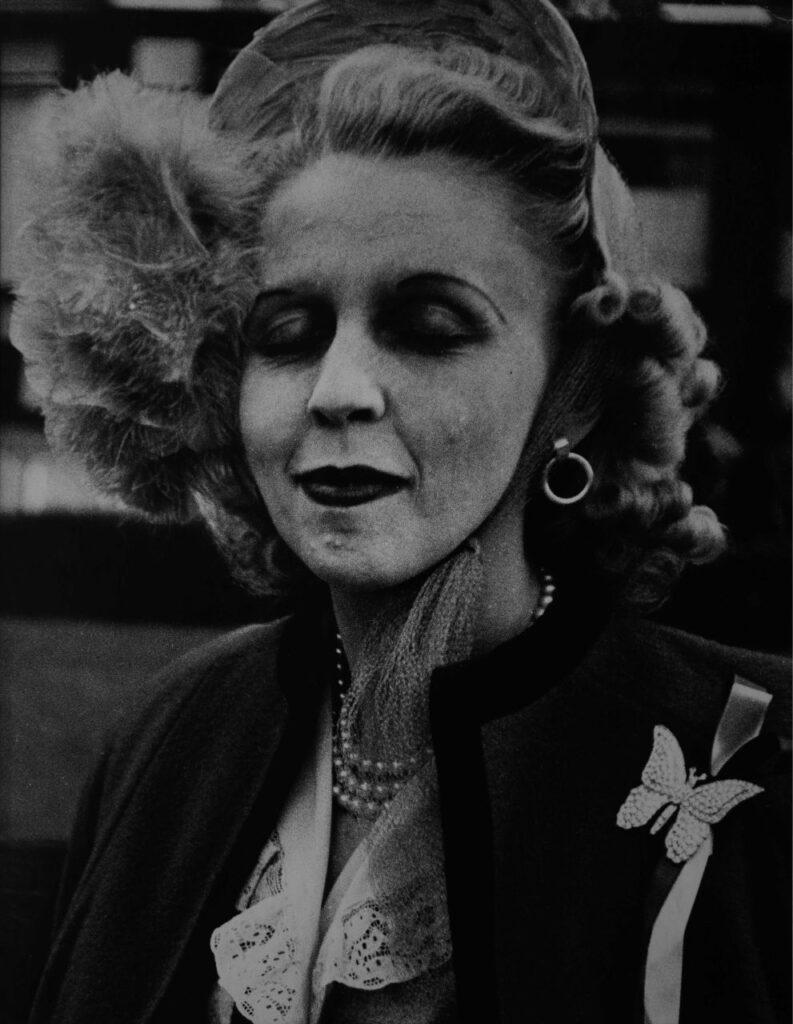 Lisette Model Woman with butterfly broche San Francisco 1949