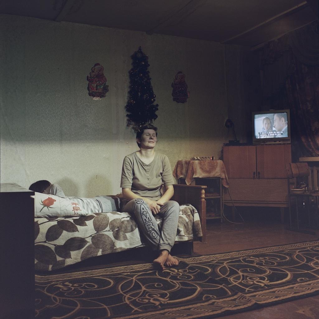 Georgs Avetisjans Oksana Eisner in Igarka Russia