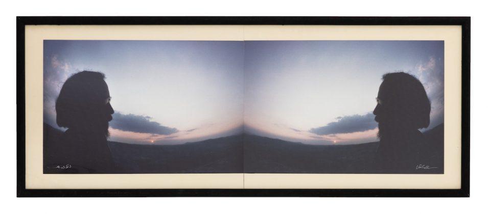 Luca Maria Patella Autofoto al tramonto speculare 1975