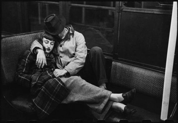 Life and Love on the New York City Subway Couple on a subway © Museum of the City of New York and Stanley Kubrick Film Archives