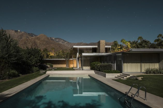 Tom Blachford Kaufmann Desert House Midnight Modern 2019 Photography