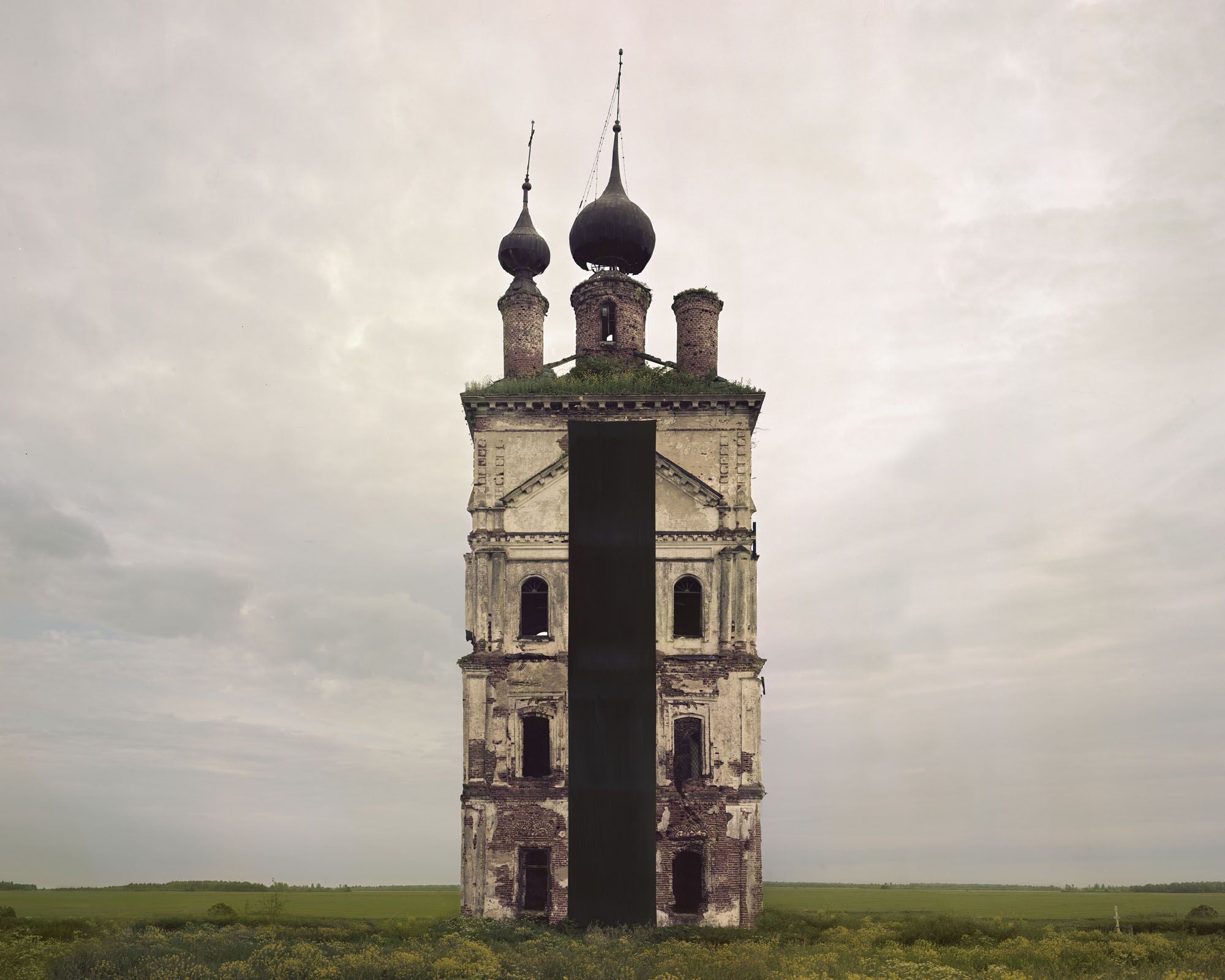 Danila Tkachenko, Monuments #1, 2018, Stampa a getto d'inchiostro, 96x120 cm, Courtesy of the artist